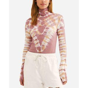 Free People Psychedelic Tie Dye Turtleneck Sweater